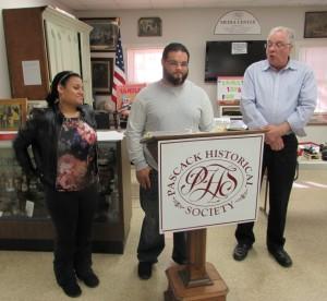 2015 Dominican College Interns Demi Giaccomo, Jamil Escobar and Dr. Tony Troncone