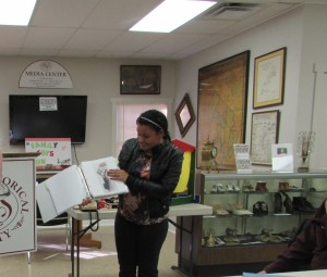 Demi Giannico presenting her research on Pre-Industrial Collection Dec. 2015a