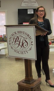 Elise High presenting her Stepping Into History Project Dec. 2015a
