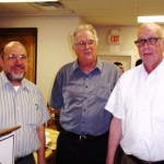 l. to r. George Sherman, Dr. Anthony Troncone, PHS Pres. Ed Martine 6-30-13 -2